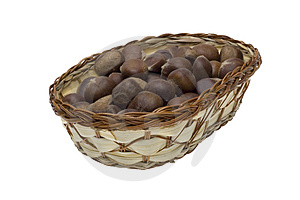 Chestnuts In The Basket Royalty Free Stock Photos - Image: 4120518