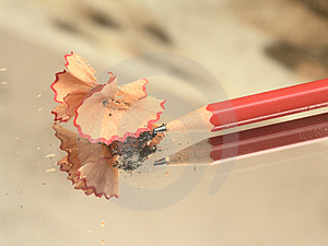 Sharpened Pencil And Wood Shavings Stock Photography - Image: 4121172