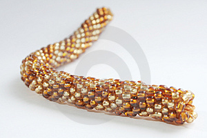 Bracelet - Snake From A Beads Stock Image - Image: 4121611