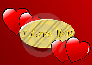 I Love You Valentines Illustration Royalty Free Stock Photography - Image: 4122367