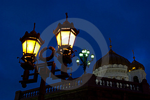 Evening Lanterns Royalty Free Stock Image - Image: 4126646
