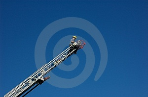 Firefighter On Ladder Stock Photos - Image: 4127193