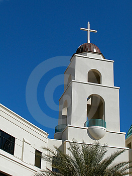 Hospital-Tower And Cross Stock Images - Image: 4130894