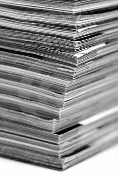 Stack Of Magazines Royalty Free Stock Photography - Image: 4134557