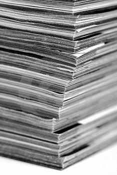 Stack Of Magazines Royalty Free Stock Photography - Image: 4134557