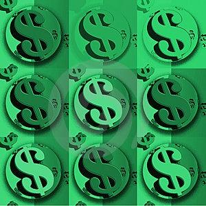 Simbolo Di Dollaro Verde Del Dollaro Fotografia Stock - Immagine: 4143540