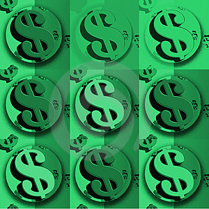 Undertecknar Den Gröna Dollaren För Dollaren Arkivfoto - Bild: 4143540