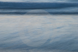 Long Exposure Image Of A Beach Stock Photography - Image: 4144172