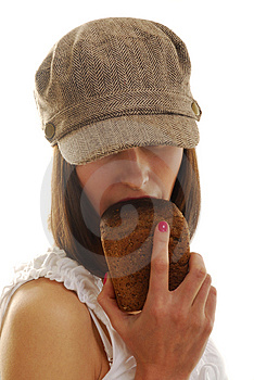 Portrait With Bread Royalty Free Stock Photo - Image: 4147685