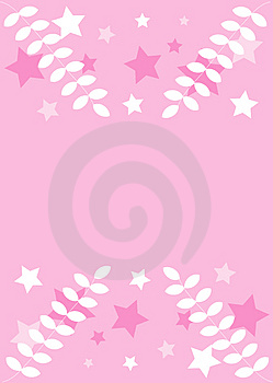 Pink Decoration: Stars, Leaves Royalty Free Stock Photo - Image: 4147975