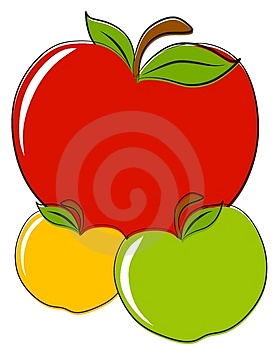 Red Green Yellow Apples Clip Art Stock Photos - Image: 4148833