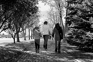 Sisters Walking Stock Photo - Image: 4150910