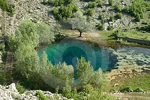 Riverhead Of River Cetina In Croatia Stock Image - Image: 4155581
