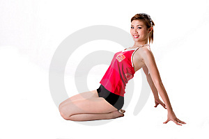 Young Woman Exercising Happily Royalty Free Stock Photography - Image: 4155787