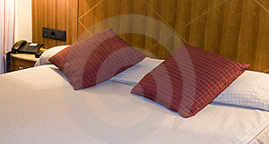 Pillows In Bed Royalty Free Stock Images - Image: 4156419