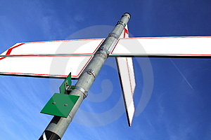 Direction boards Stock Photography