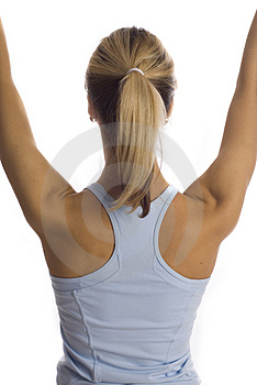 Back of fitness girl Stock Photography