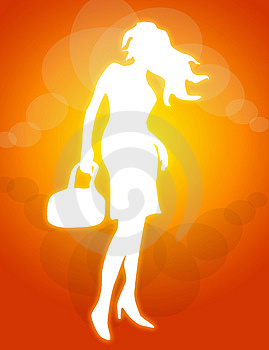 Posing Woman Illustration Royalty Free Stock Images - Image: 4171249