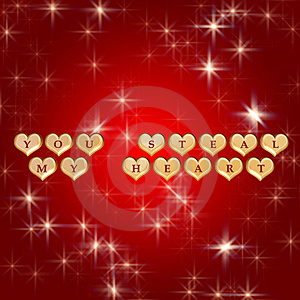You Steal My Heart 3 Royalty Free Stock Photos - Image: 4173248