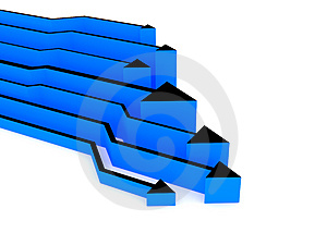 3d Blue Arrows Competition Stock Image - Image: 4173781