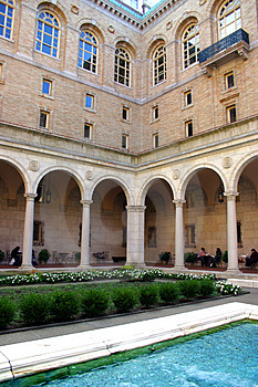 Boston Public Library, Boston Stock Photo - Image: 4174850