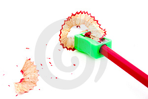 Sharpened Red Pencil Stock Photo - Image: 4177760