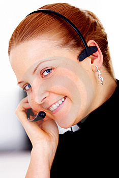 Customer service woman Royalty Free Stock Photo