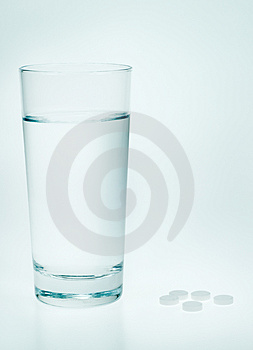 Aspirin And Water Stock Photography - Image: 4183102