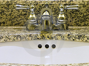 Sink With Two Taps Stock Image - Image: 4183251