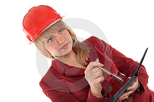 Woman In Helmet Royalty Free Stock Photography - Image: 4183357