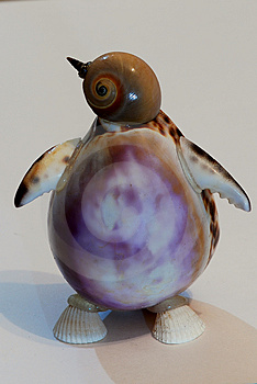 Penguin Made From Shell Royalty Free Stock Image - Image: 4183616
