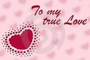 Valentine Postcard Stock Images - Image: 4184514