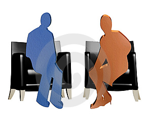 3D Couple Talking Royalty Free Stock Photo - Image: 4185285