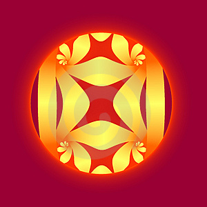 Warm Red And Yellow Fractal Royalty Free Stock Photography - Image: 4185607