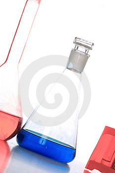 Chemistry flask Royalty Free Stock Photos