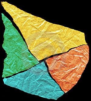 The Broken Off Paper. Stock Photos - Image: 4188383