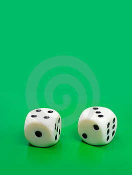 Two Gambling Dices Stock Image - Image: 4188801