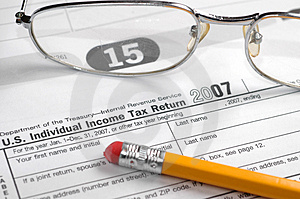 Income taxes Royalty Free Stock Photos