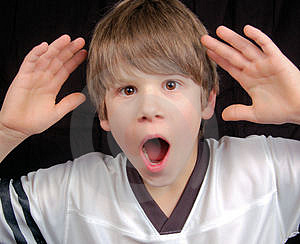Boy In Shock Stock Images - Image: 4197714