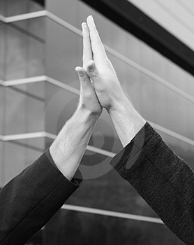High-five Royalty Free Stock Photo - Image: 4197875