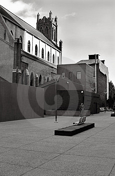 Courtyard And Church Royalty Free Stock Images - Image: 425419