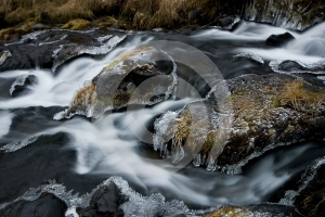 Frozen Stream Stock Photography - Image: 425722