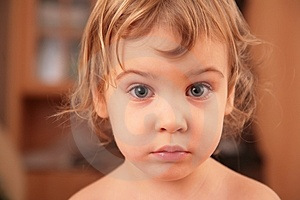 Portrait Of Sad Little Girl Royalty Free Stock Photo - Image: 4206855