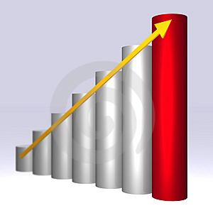3D ascending graph Stock Images