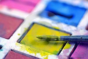 Watercolour Paints Stock Photos - Image: 4209823