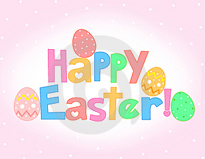 Happy Easter Greeting card Stock Photo