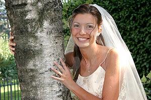 Happy Bride Royalty Free Stock Photography - Image: 4219947