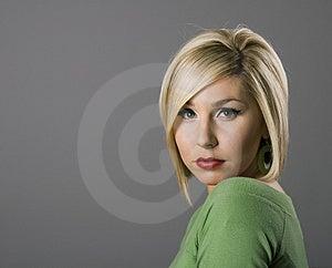 Blonde Sad Eyes Stock Photos - Image: 4220223
