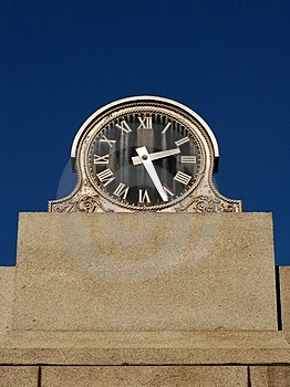 Old Black Faced Clock Stock Photos - Image: 4221303