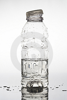 Opened water bottle Royalty Free Stock Photos